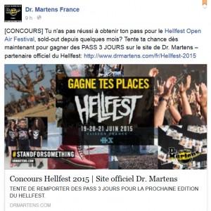 Le nouveau concours proposé par Dr. Martens pour le Hellfest 2015